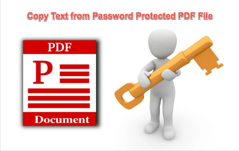 Как скопировать текст из PDF-файла, защищенного паролем?