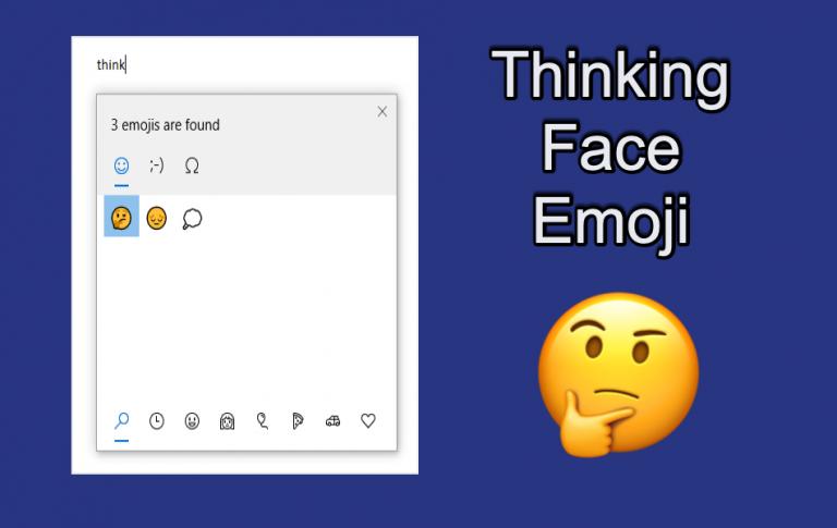 Как набрать Thinking Face Emoji 🤔 с помощью клавиатуры?