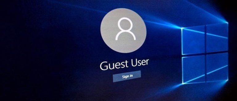 Создание гостевой учетной записи в Windows 10: вот как